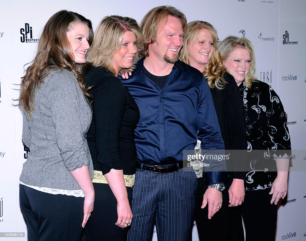 Robyn Brown, Meri Brown, Kody Brown, Christine Brown and Janelle Brown from 'Sister Wives' arrive at the grand opening of Mike Tyson's one-man show 'Mike Tyson: Undisputed Truth - Live on Stage' at the Hollywood Theatre at the MGM Grand Hotel/Casino April 14, 2012 in Las Vegas, Nevada.