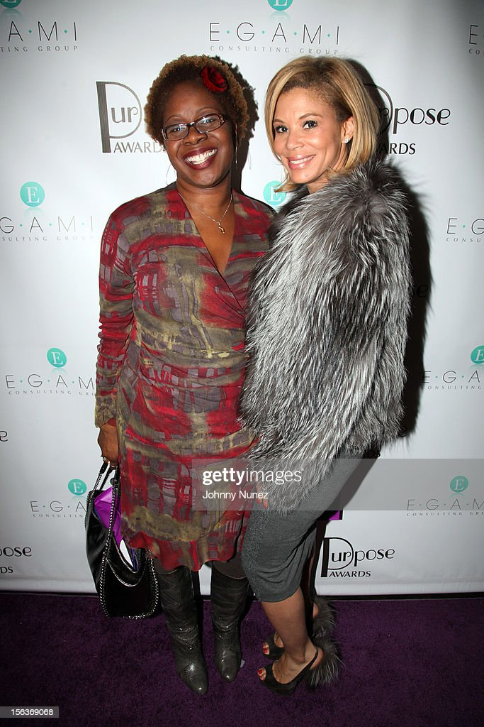 Robyn Greene Arrington and Erika Liles attend the 2012 EGAMI Consulting Group Purpose Awards at Beauty & Essex on November 13, 2012 in New York City.