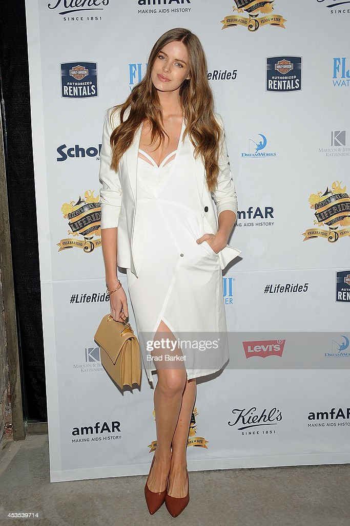 <a gi-track='captionPersonalityLinkClicked' href=/galleries/search?phrase=Robyn+Lawley&family=editorial&specificpeople=7733632 ng-click='$event.stopPropagation()'>Robyn Lawley</a> attends the 5th Annual Kiehl's LifeRide for amfAR Finale Celebration on August 12, 2014 in New York City.