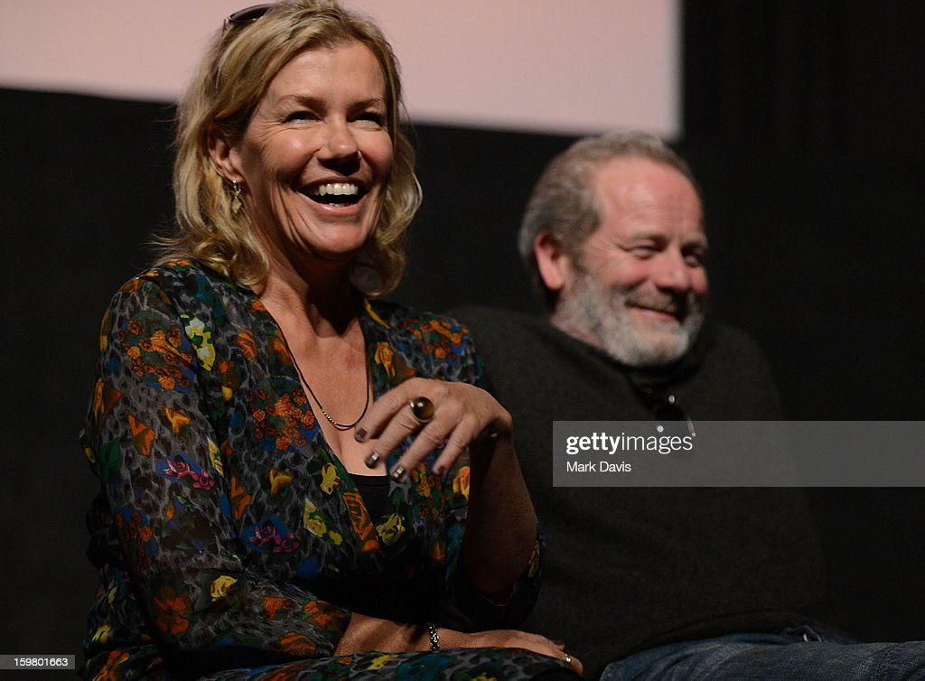 Robyn Malcom (L) and <a gi-track='captionPersonalityLinkClicked' href=/galleries/search?phrase=Peter+Mullan&family=editorial&specificpeople=533010 ng-click='$event.stopPropagation()'>Peter Mullan</a> attend the premiere of Sundance Channel Original Series 'Top of the Lake' on January 20, 2013 in Park City, Utah.