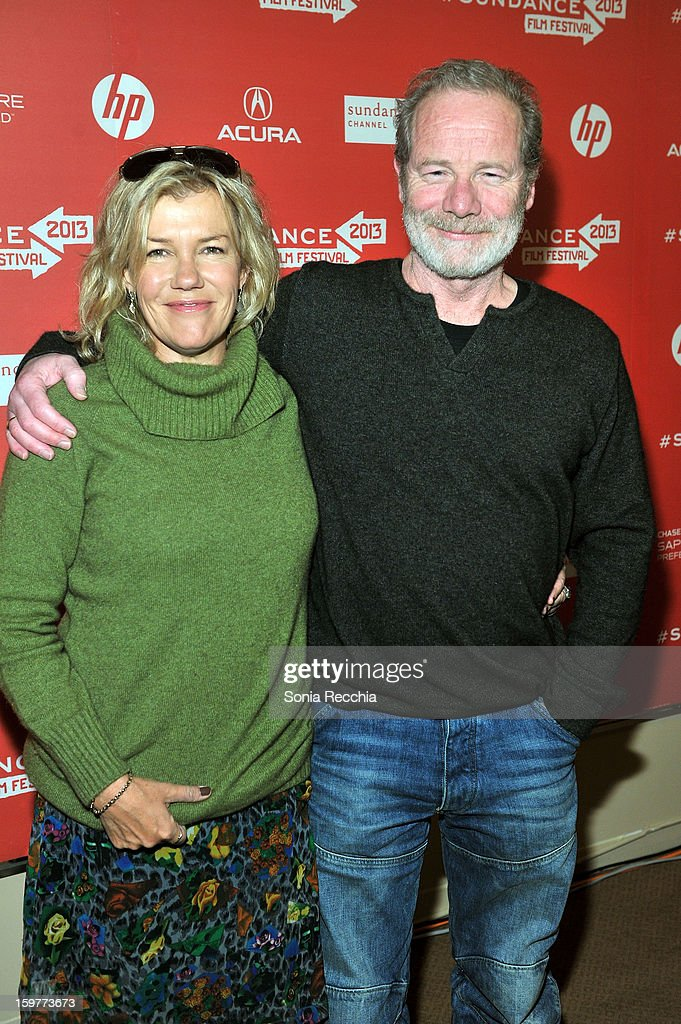Robyn Malcom and Peter Mullan attend the 'Top Of The Lake' premiere at Egyptian Theatre during the 2013 Sundance Film Festival on January 20, 2013 in Park City, Utah.
