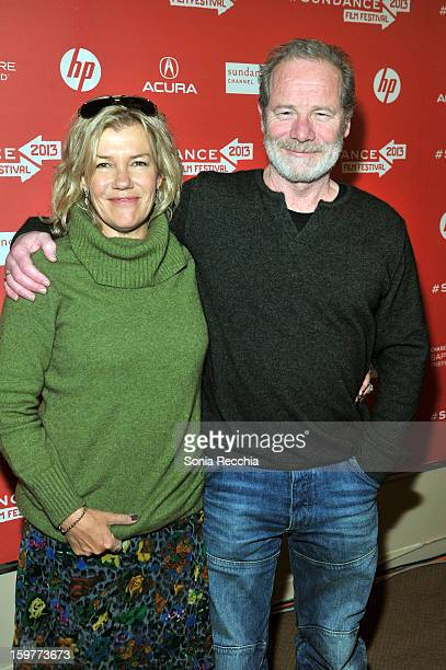 Robyn Malcom and Peter Mullan attend the 'Top Of The Lake' premiere at Egyptian Theatre during the 2013 Sundance Film Festival on January 20 2013 in...