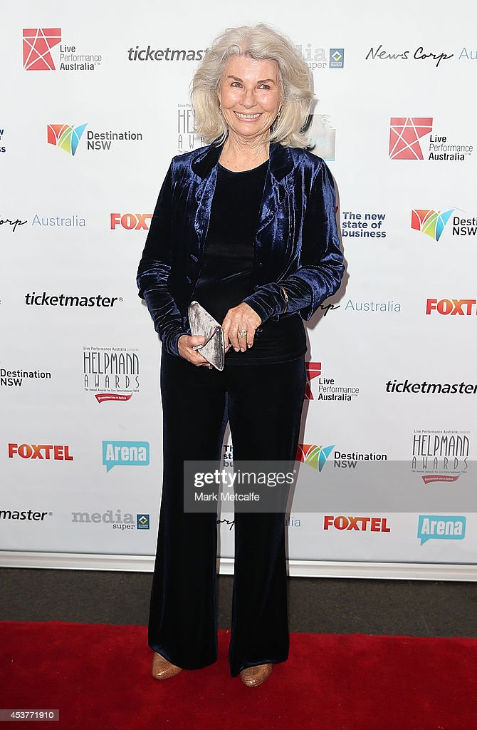 <a gi-track='captionPersonalityLinkClicked' href=/galleries/search?phrase=Robyn+Nevin&family=editorial&specificpeople=850192 ng-click='$event.stopPropagation()'>Robyn Nevin</a> arrives at the 2014 Helpmann Awards at the Capitol Theatre on August 18, 2014 in Sydney, Australia.