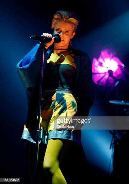Robyn performs at Brixton Academy on November 1 2012 in London England