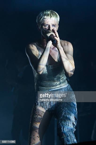 Robyn performs on Day 2 of the Boston Calling Festival on Government Center Plaza on May 28 2016 in Boston Massachusetts