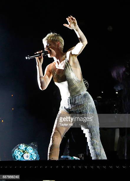 Robyn performs onstage during the 2016 Governors Ball Music Festival at Randall's Island on June 3 2016 in New York City