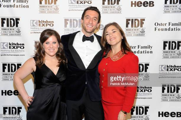 Robyn Polansky Jeremy Abelson and Loretta Sanchez attend FIDF CASINO NIGHT 2009 at The Metropolitan Pavilion on December 5 2009 in New York City