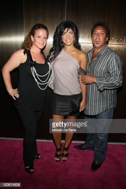 Robyn PolayTeresa Giudice and Daniel Cerrone attend the 'Real Housewives Get Personal' book signing after party at Kastel at Trump Soho Hotel on July...