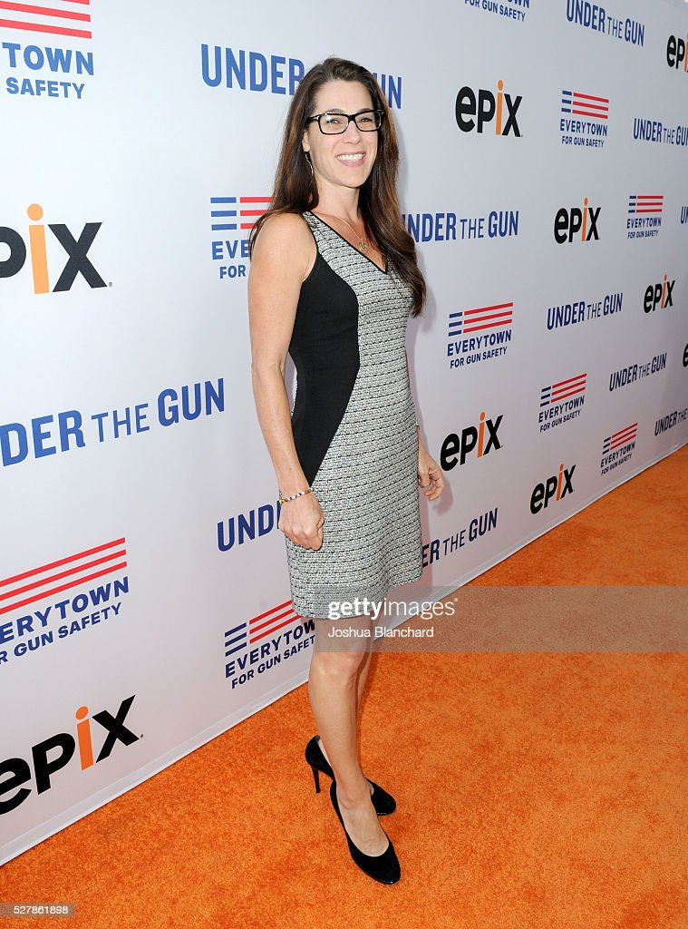 Robyn Thomas attends the 'Under The Gun' LA premiere featuring Katie Couric and Stephanie Soechtig at Samuel Goldwyn Theater on May 3 2016 in Beverly...