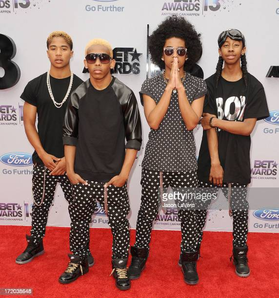 Roc Royal Prodigy Princeton and Ray Ray of Mindless Behavior attend the 2013 BET Awards at Nokia Theatre LA Live on June 30 2013 in Los Angeles...
