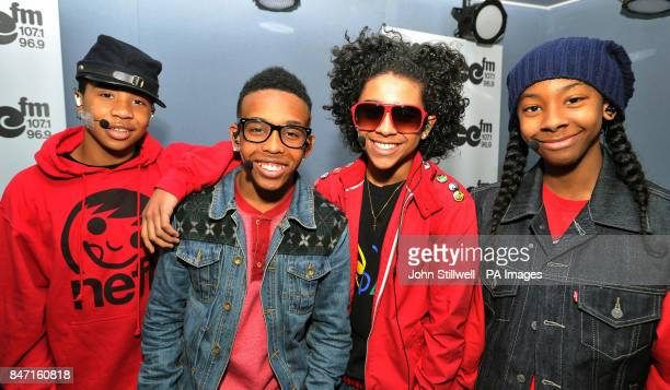 Roc Royal Prodigy Princeton and Ray Ray singers of the new American pop band Mindless Behavior during a live performance in the ChoiceFM studio...