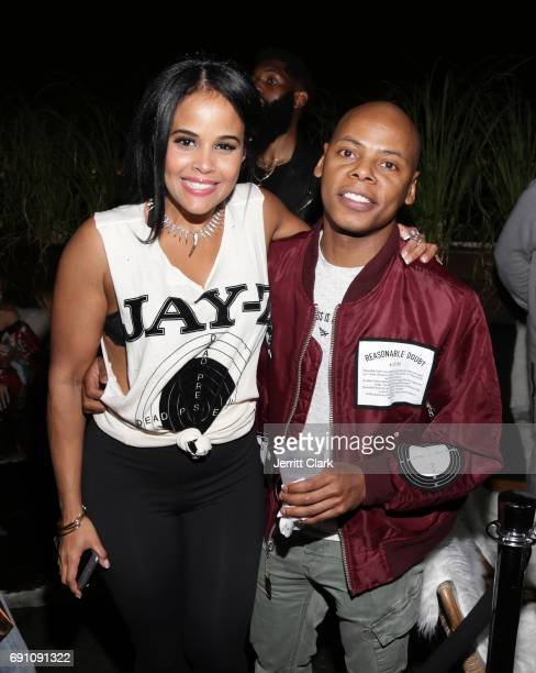 Roc96 executive Anel Pla and Tyran 'Ty Ty' Smith attend the Madeworn x Roc96 PopUp Event on May 31 2017 in Los Angeles California
