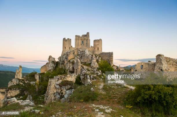 Rocca di Calascio - imposing medieval castle ruins in Abruzzo italy europe