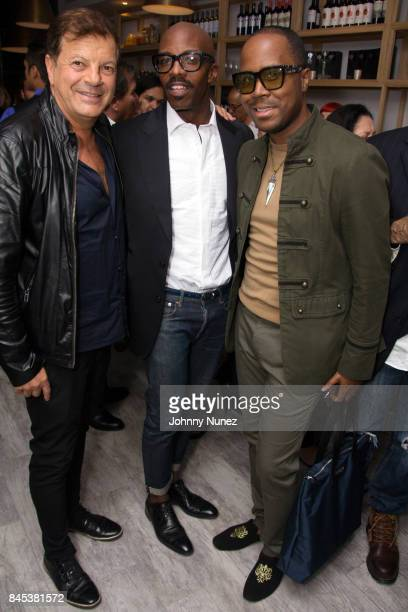 Rocco Amcarola Peter McMath and Antoine Von Boozier attend the Casita Opening Party on September 8 2017 in New York City