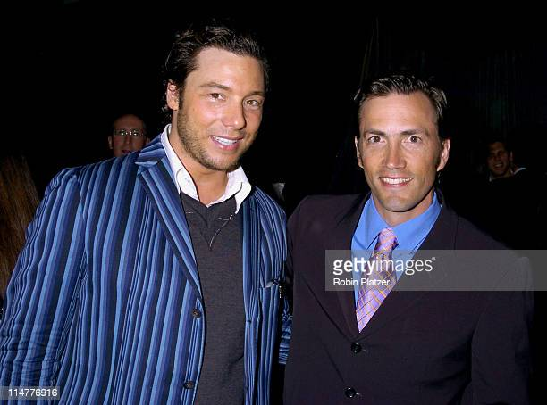 Rocco DiSpirito and Andrew Shue during The 2005 Do Something BRICK Awards Inside Arrivals at Capitale in New York City New York United States