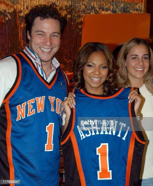 Rocco DiSpirito Ashanti and Becky Hammon during New York Knicks' Read to Achieve Pledge Kickoff with Ashanti and Rocco DiSpirito at Rocco's in New...