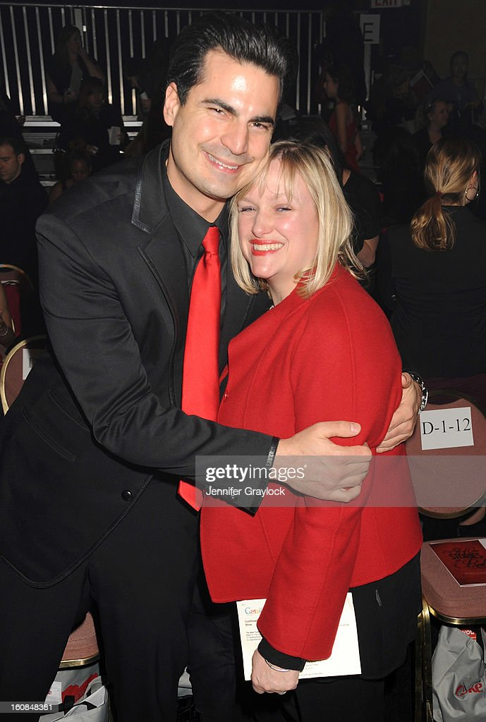 Rocco Gaglioti and fashion writer Lisa Marsh attend The Heart Truth 2013 Fashion Show at Hammerstein Ballroom on February 6, 2013 in New York City.