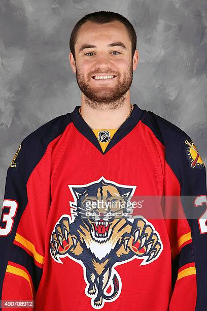 Rocco Grimaldi of the Florida Panthers poses for his official headshot for the 20152016 season on September 17 2015 at the BBT Center in Sunrise...