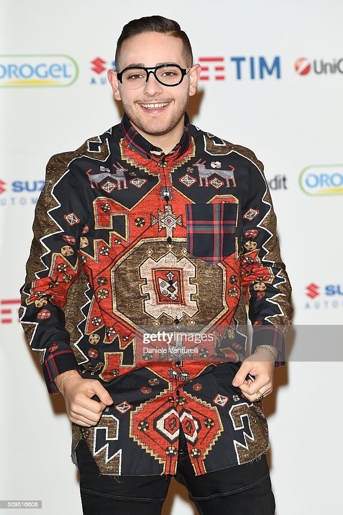 Rocco Hunt attends a photocall at 66. Sanremo Festival on February 11, 2016 in Sanremo, Italy.