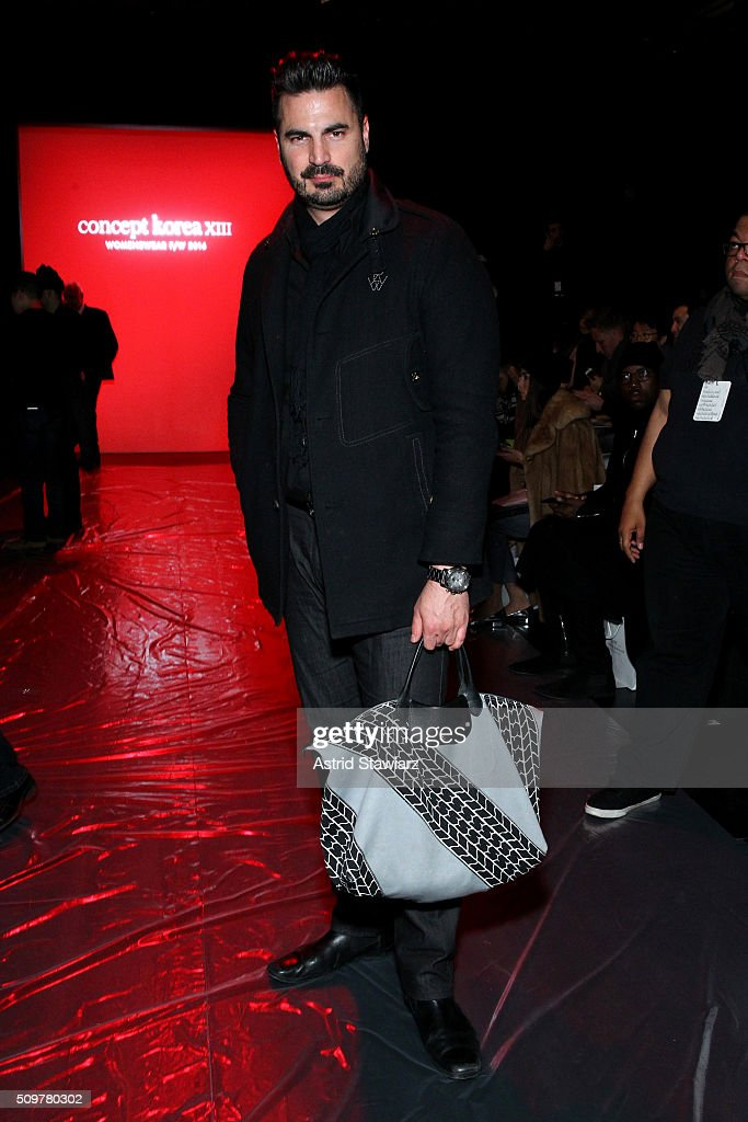 Rocco Leo Gaglioti attends the Concept Korea Fall 2016 fashion show during New York Fashion Week: The Shows at The Dock, Skylight at Moynihan Station on February 12, 2016 in New York City.