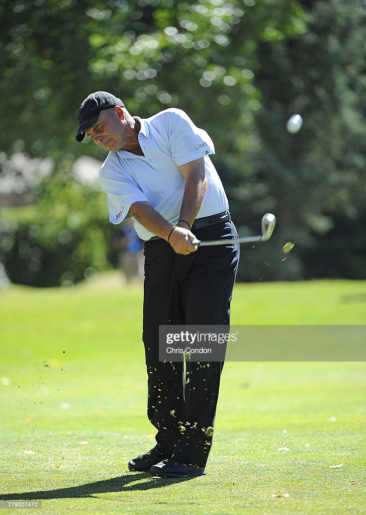 <a gi-track='captionPersonalityLinkClicked' href=/galleries/search?phrase=Rocco+Mediate&family=editorial&specificpeople=220352 ng-click='$event.stopPropagation()'>Rocco Mediate</a> hits to the second green during the final round of the Shaw Charity Classic at Canyon Meadows Golf & Country Club on September 1, 2013 in Calgary, Alberta, Canada.