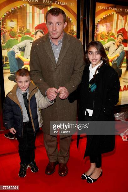 Rocco Ritchie Guy Ritchie and Lourdes Leon attend the 'Fred Claus' Premiere at Leicester Square on November 19 2007 in London