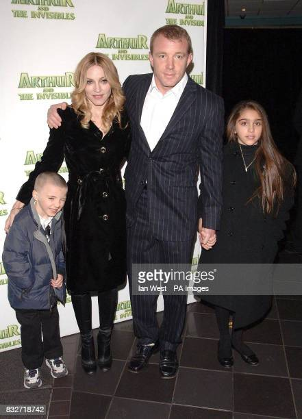 Rocco Ritchie Madonna Guy Ritchie and Lourdes arrive for the UK premiere of Arthur and the Invisibles at the Vue West End in central London