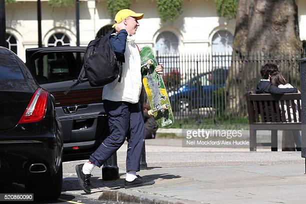 Rocco Ritchie seen arriving at Guy Ritchie's house on April 13 2016 in London England