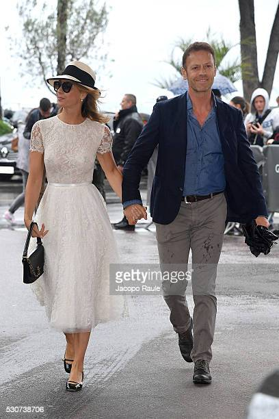Rocco Siffredi and Rozsa Tassi are seen at Hotel Martinez during the annual 69th Cannes Film Festival at on May 11 2016 in Cannes France