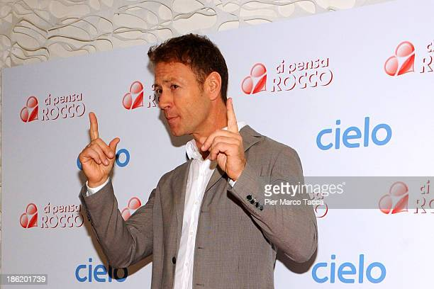 Rocco Siffredi attends the 'Ci Pensa Rocco' TV Show photocall on October 29 2013 in Milan Italy