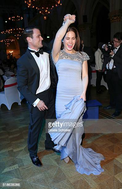 Rocco Stark and his girlfriend Angelina Heger dance during the 7th 'Filmball Vienna' at City Hall on April 1 2016 in Vienna Austria