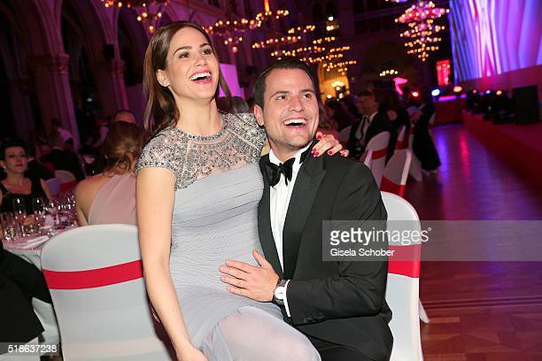 Rocco Stark and his girlfriend Angelina Heger during the 7th 'Filmball Vienna' at City Hall on April 1 2016 in Vienna Austria