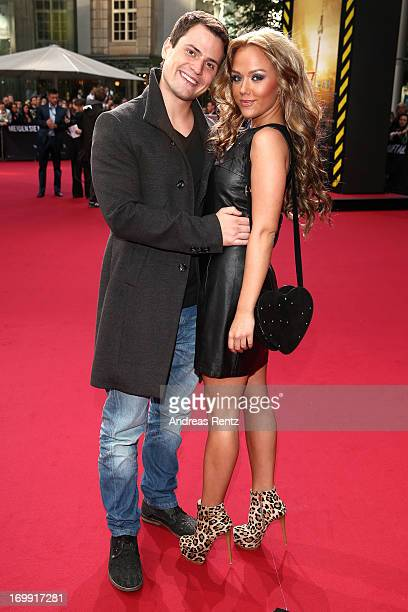 Rocco Stark and Kim Gloss attend 'WORLD WAR Z' Germany Premiere at Sony Centre on June 4 2013 in Berlin Germany