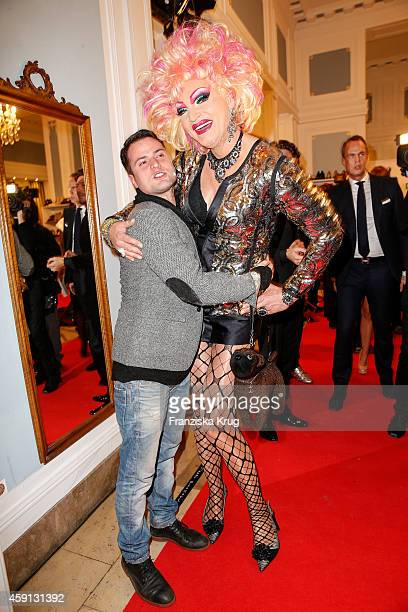 Rocco Stark and Olivia Jones attend the Deichmann Shoe Step of the Year 2014 on November 17 2014 in Hamburg Germany