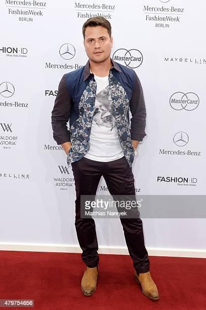 Rocco Stark attends the Lena Hoschek show during the MercedesBenz Fashion Week Berlin Spring/Summer 2016 at Brandenburg Gate on July 7 2015 in Berlin...