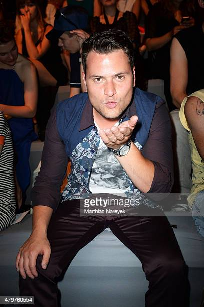 Rocco Stark attends the Pearly Wong show during the MercedesBenz Fashion Week Berlin Spring/Summer 2016 at Brandenburg Gate on July 7 2015 in Berlin...