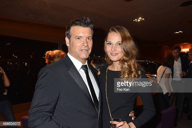 Roch Voisine and Camille Lou attend the 'For Ever Gentlemen 2' CD Launch at Le Paris boat on October 1 2014 in Paris France