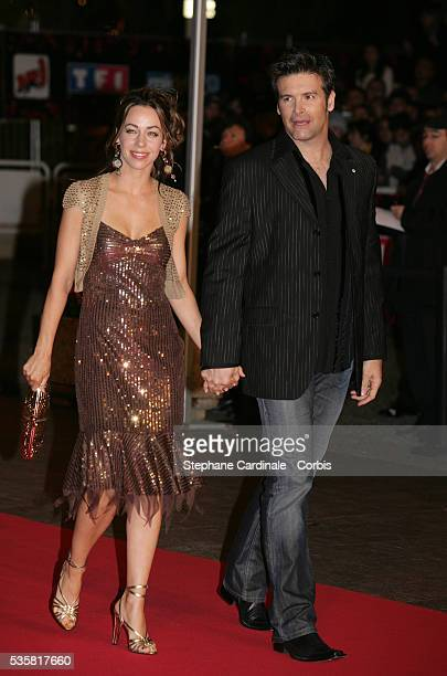 Roch Voisine and his wife arrive at the NRJ Music Awards 2005 held in Cannes