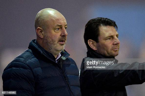 Rochdale AFC manager Keith Hill looks on during the Emirates FA Cup third round match between Barrow AFC and Rochdale AFC on January 7 2017 in Barrow...