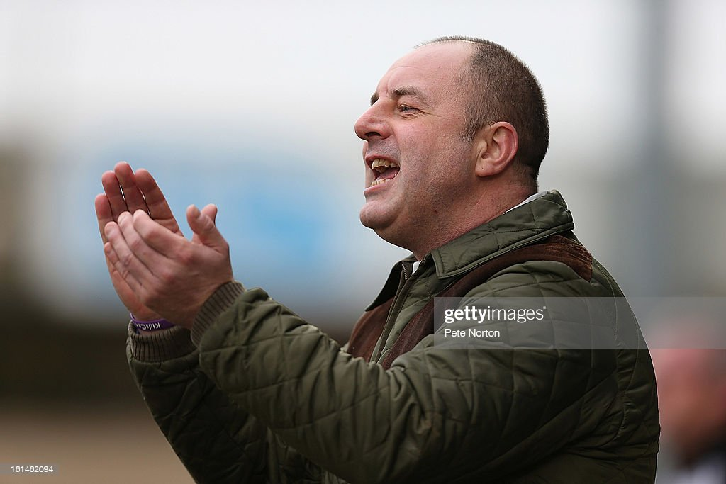 Rochdale manager Keith Hill gives encouragement to his players during the npower League Two match between Northampton Town and Rochdale at Sixfields Stadium on February 9, 2013 in Northampton, England.