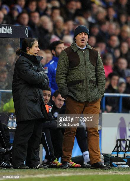 Rochdale manager Keith Hill looks on during the FA Cup with Budweiser Fourth Round match between Rochdale and Sheffield Wednesday at Spotland on...