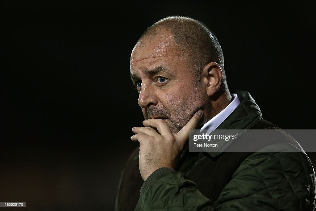 Rochdale manager Keith Hill looks on during the Sky Bet League Two match between Rochdale and Northampton Town at Spotland Stadium on October 22 2013...