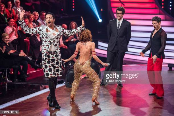 Roche Gonzales Vanessa Mai Daniel Hartwig and Christian Polanc dance on stage during the 8th show of the tenth season of the television competition...