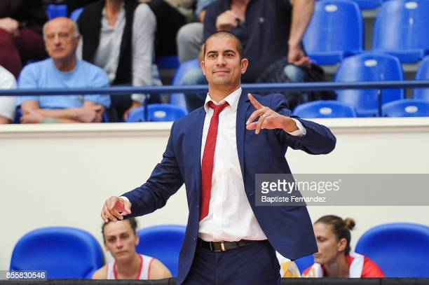 Roche Vendee head coach Emmanuel Body during the Women's League match between Roche Vendee and Mondeville of the LFB Open 2017 on September 29 2017...