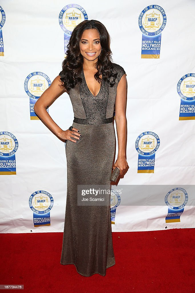 Rochelle Aytes arrives at the 23rd annual NAACP Theatre Awards at Saban Theatre on November 11, 2013 in Beverly Hills, California.