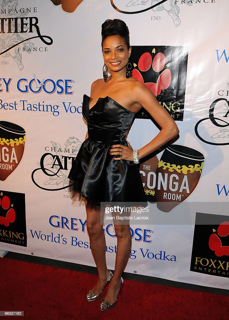 Rochelle Aytes arrives at The Conga Room at LA Live on January 31 2010 in Los Angeles California