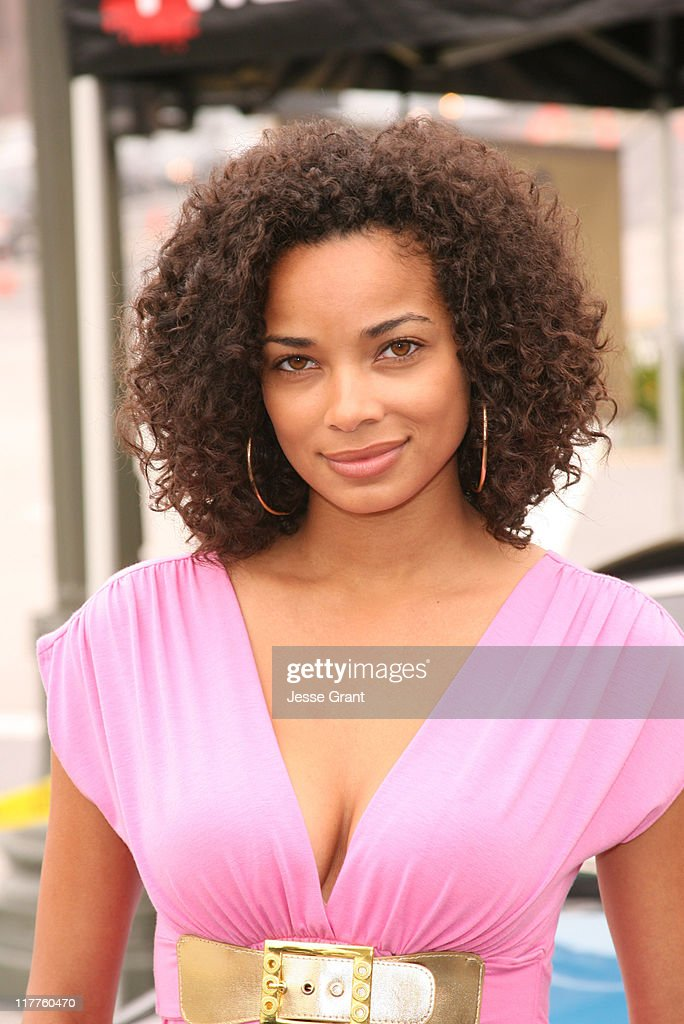 Rochelle Aytes during The Cast of Fox's New Series 'Drive' Hands Out Free Gas Cards April 5 2007 at Century City 76 in Century City California United...