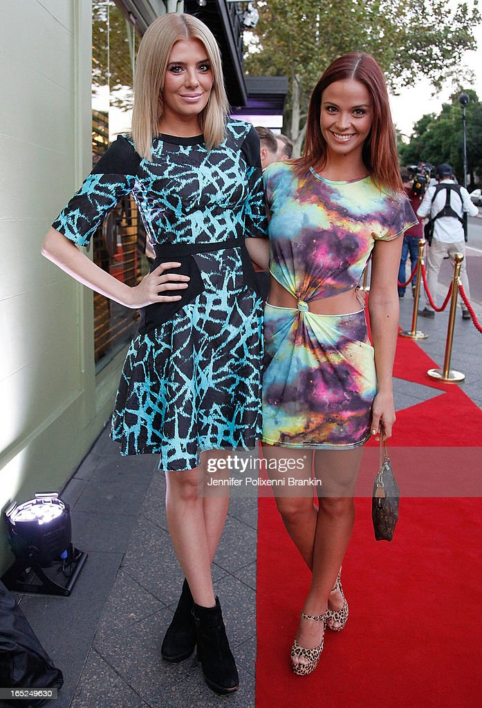 Rochelle Fox and Lauren Brant at the Australian Walk of Style event at the Intersection in Paddington on April 2, 2013 in Sydney, Australia.