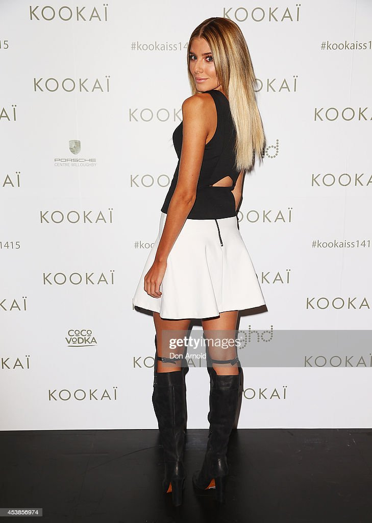 Rochelle Fox poses at Kookai Fashion Show SS14/15 at Carriageworks on August 20, 2014 in Sydney, Australia.