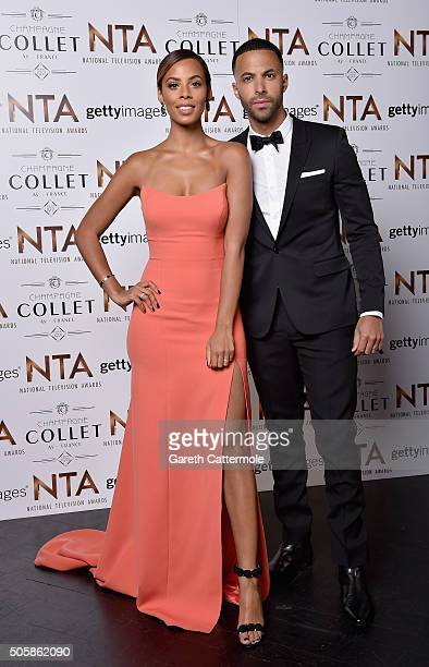 Rochelle Humes and Marvin Humes attend the 21st National Television Awards at The O2 Arena on January 20 2016 in London England